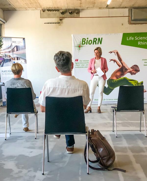 Rede der baden-württembergischen Wirtschaftsministerin Hoffmeister-Kraut im Business Development Center Heidelberg